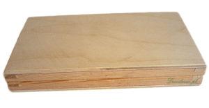 Drewniane prostokątne pudełko flok