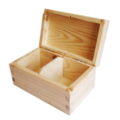 Pudełko drewniane na herbatę - herbaciarka