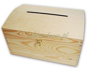 Kufer drewniany z otworem