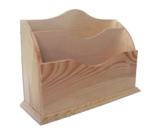 Ozdobny listownik drewno decoupage decodrew