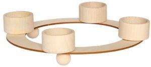 Świecznik drewniany typu tealight decoupage decodrew