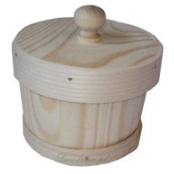 Produkcja drewnianych elementów.Cukiernica drewniana decoupage.