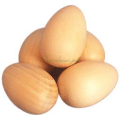 Drewniane toczone jajeczka do ozdabiania.