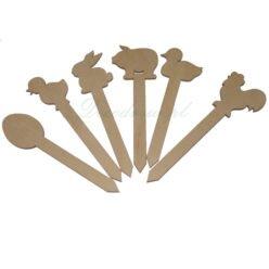Zwierzaki kształty wycinanki ze sklejki wielkanoc.