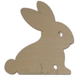 Dekoracje drewniane świąteczne Wielkanoc Zajączek.