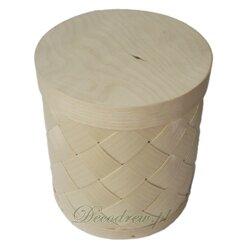 Pudełko z łuby średnica 13cm, wysokość 15cm
