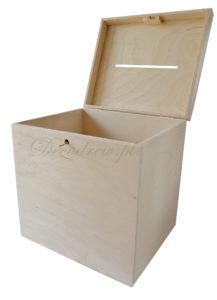 Pudełko z kluczykiem na kartki ślubne duże