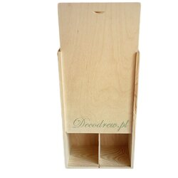 Zasuwane drewniane pudełko na dwie butelki wina
