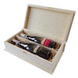Pudełko na wino podwójne
