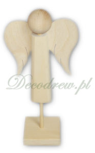 Aniołki drewniane wycinane z drewna produkcja decodrew