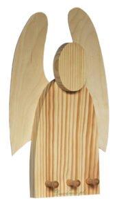 Drewniany aniołek wieszak wycinany producent decodrew