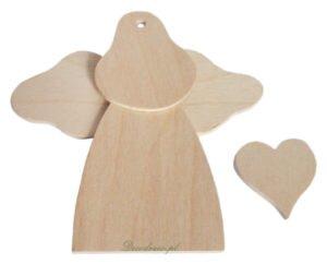 Aniołki drewniane i anioły