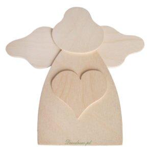 Aniołek wycinanka drewniana