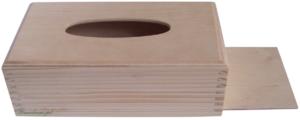 Decopage drewniany chustecznik