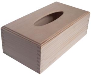 Prostokatny drewniany chustecznik