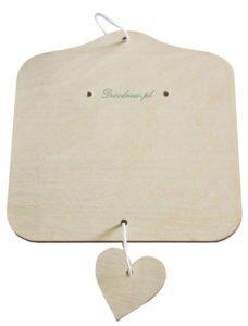 Decodrew deseczka notatnik z sercem. Wycieta laserowo ze sklejki 3mm.