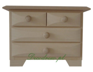 drewniana komoda decoupage