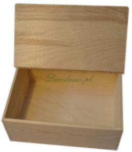Skrzynka drewniana na chleb decoupage