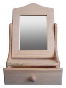 Toaletka z szufladą i lustrem