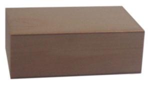 Pudełko drewniane zamykane surowe decoupage.