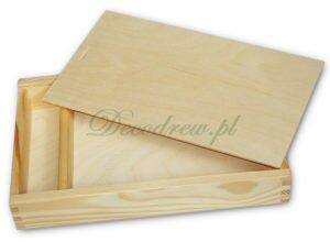 Pudełko drewniane na zdjecia decoupage