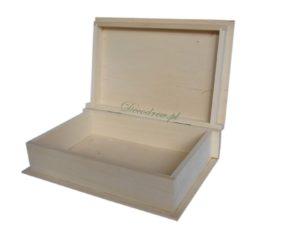 Wymiary (↖ 29cm) (↕ 7,5cm) (↔ 19cm) książka pudełko drewniane