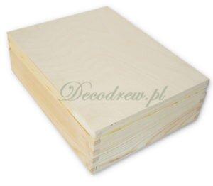 Drewnaine pudełko z przegrodami