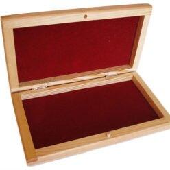 Pudełko drewniane flokowane