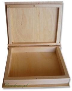 Drewno pudełko szkatułka książka