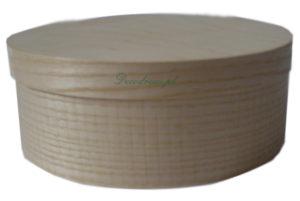 Pudełko drewniane okrągłe.