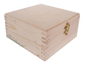 Drewniane pudełko herbata decoupage