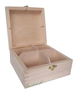 Poczwórna drewniana herbaciarka