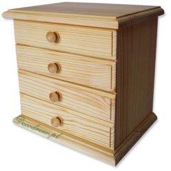 Komoda drewniana z 4 szufladami