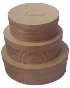 Pudełka drewniane owalne