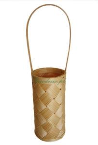 Koszyczek drewniany pleciony alkohol wino