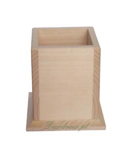 Drewniany kubek decoupage
