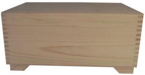 Decoupage kufer drewniany do ozdabiania