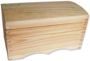 Galanteria drewniana kuferek produkcja