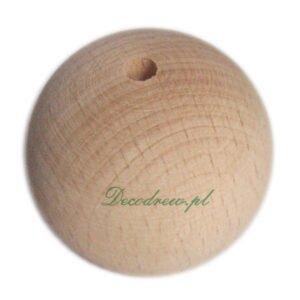 Kulka drewniana z otworem koralik