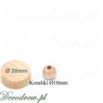 Toczone drewniane kulki o średnicy 10mm. Wszechstronne zastosowanie DIY