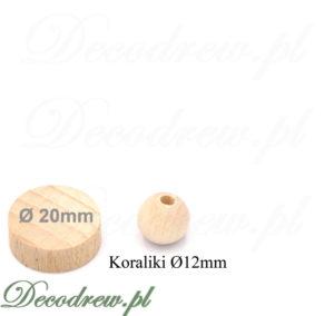 Oferujem kulki drewniane z otworami, wszechstronne zastosowanie.