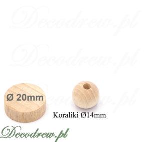 Korale drewniane do produkcji dekoracji i kolczyków. Toczenie usługowe, sprzedaż hurtowa oraz detaliczna