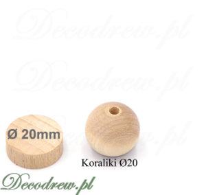 Korale do nawlekania z otworem przelotowym na sznurek lub łańcuszek. Produkujemy również koraliki bez otworów, toczenie kulek drewnianych.