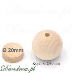 Produkcja elementów toczonych: koraliki drewniane dla dzieci na zabawki i dekoracje świąteczne.