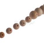 Kulki drewniane z otworem różne rozmiary, drewniane koraliki dla dzieci oraz koraliki drewniane kolorowe