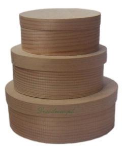 Pudełko drewniane owal