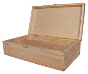 Drewniane pudełko na wino. Do decoupage.