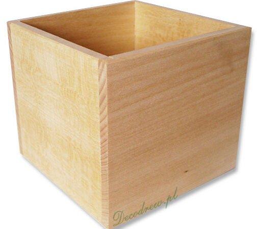 Drewniany pojemnik decoupage, decodrew