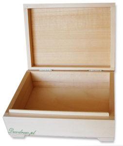 Kuferek drewniany do zdobienia