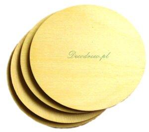 Drewniane okrągłe podkładki pod kubek, do decoupage. Wycionane laserowo ze sklejki